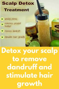 Detox your scalp to remove dandruff and stimulate hair growth Many hair products, such as lotions , creams and oils we use, can clog up the pores in scalp. One way to ensure your hair grows long and healthy is to go a step further than shampooing by doing Grow Long Hair, Grow Hair, Scalp Scrub, Itchy Scalp Remedy, Exfoliate Scalp, Moisturizing Hair Mask, Hair Treatments, Beauty, Salud