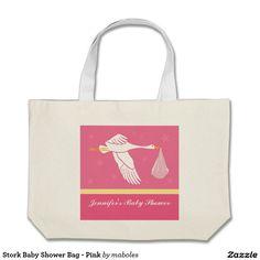 Stork Baby Shower Bag - Pink