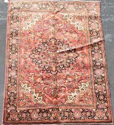 """Hand Woven Ahar Rug or Carpet, 6' 6"""" x 10' 2"""""""