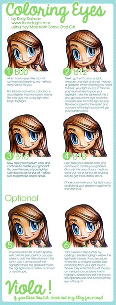 Coloring Eyes, a Copic Tutorial - The Odd Girl