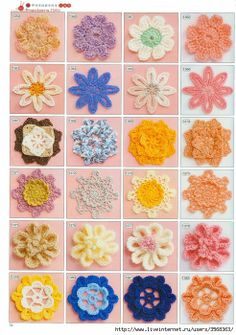Flower motifs with corresponding diagram, look for the matching numbers on the upper left hand side of each page. Page 08.