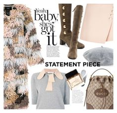 """Statement coat"" by edita1 ❤ liked on Polyvore featuring Helene Berman, LALO, Chloé, Gucci, Clé de Peau Beauté, Givenchy and statementcoats"