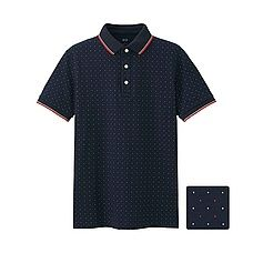 MEN Dry Pique Printed Polo Shirt