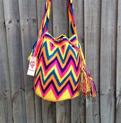Colombian Mochila Wayuu bag by peaceandluvsm on Etsy