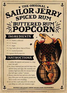 Sailor Jerry Rum Popcorn