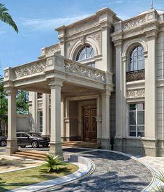 ideas exterior stone cladding facades for 2019 Classic House Exterior, Classic House Design, House Paint Exterior, Dream House Exterior, Exterior House Colors, Modern House Design, Exterior Design, House Cladding, Stone Cladding
