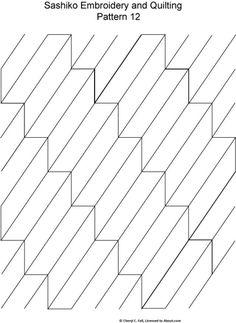 Sashiko Pattern 12: Sashiko Pattern 12
