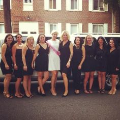 Little black dress bachelorette party LBD