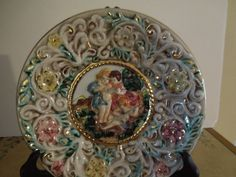A Capodimonte Porcelain Plate made in Italy by marciashouse, $25.00