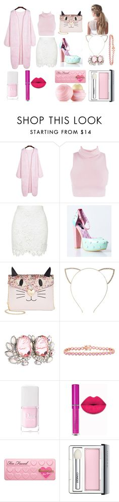 """""""Macarons"""" by hien-anhhs on Polyvore featuring mode, Betsey Johnson, Cara, Mawi, Gioelli Designs, Christian Dior, Clinique et Eos"""