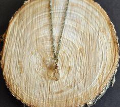 Champagne Swarovski Crystal Small Drop Necklace. $25.00, via Etsy.