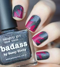 piCture pOlish 'Badass' = flash bang nails by LauraVGP thanks Laura :) www.picturepolish.com.au
