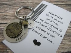Brother Gift Gifts For Custom Tree Of Life Key Chain