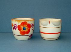 Vintage Art Deco 1920s Pair of Hand Painted Egg Cups Made in England by Myott op Etsy, 27,10 €