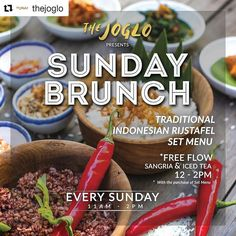 S U N D A Y funday! Time to wrap up the weekend in style with our Sunday Brunch starting 11am!!  come grab your share of Indonesian Rijstafel and enjoy our free flow Sangria by @plagawine kids menu and activities available as well  See ya later!   #food #bali #holiday #traveling #wanderlust #globetrotter #travel #travelblogger #flatlays #flatlay #flatlayoftheday #lunch #yummy #acolorstory #foodlover #tumblr #foodforfoodie #style #foodie #foodblogger #madeswarung #samsunglife #like4like…