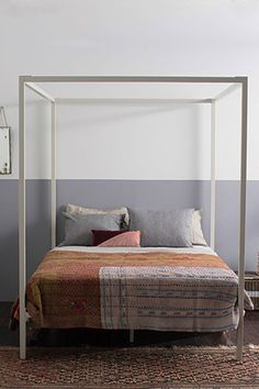 King 4 Poster Bed, White