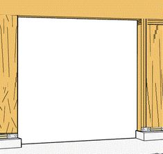 Learn how to frame a garage door opening. We offer a step by step process to make your rough opening in to a finished opening quickly and easily. Garage Door Framing, Metal Garage Doors, Carriage Garage Doors, Garage Door Styles, Metal Garages, Cool Garages, Garage Door Design, Garage Door Makeover, Garage Door Repair