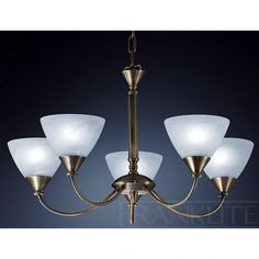 Franklite traditional 5 light ceiling light comes in a high quality brushed bronze finish with alabaster effect glass bowls 5 Light Chandelier, Antique Chandelier, Thing 1, Wall Lights, Ceiling Lights, Light Fittings, Bronze Finish, Kitchen Lighting, Light Decorations
