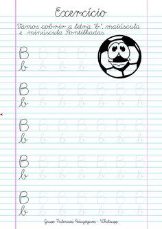 Blog Educação e Transformação: 👍Caligrafia: alfabeto e números Cursive Writing Worksheets, Alphabet Tracing Worksheets, Homeschool Worksheets, Worksheets For Kids, Kindergarten Worksheets, Cursive Handwriting, Cursive Letters, Tracing Letters, Confucius Quotes