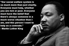 Our social welfare system..  Why do we blame the poor for being poor?  Who would really choose that life?