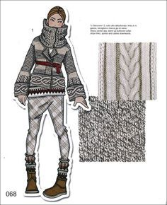 cable knitting illustration - Google Search