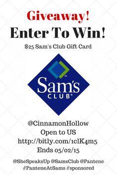 Enter the $25 @SamsClub #GiftCard #Giveaway @CinnamonHollow! @Pantene @SheSpeaksUp #PanteneAtSams #ad Ends 5/02