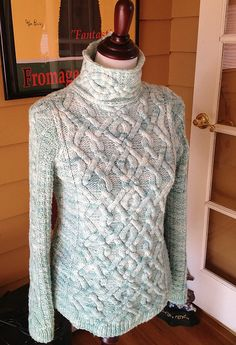 Mountmellick Aran Pullover By Melissa Leapman - Purchased Knitted Pattern - (ravelry)