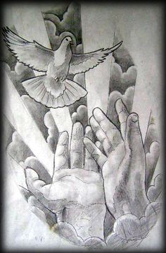 Tatuagens Mãos com terço e Oração | Leles Tattoo