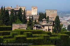 Andalucia - Granada - the Generalife Gardens, Alcazaba Fortress. Image courtesy of Travel Pictures Gallery W2C