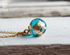 """Necklace Mini Earth globe,golden Necklace,minimalistic Necklace,tender Necklace """"blue planet"""" hand-gilded – My All Pin Page Diamond Choker Necklace, Resin Necklace, Diamond Pendant, Resin Ring, Dune, Golden Necklace, Wattpad, Gold Plated Rings, Silver Rings Handmade"""