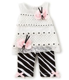 Shop for Rare Editions Baby Girls 3-24 Months Butterfly-Applique Lace Top & Zebra-Stripe Leggings Set at Dillards.com. Visit Dillards.com to find clothing, accessories, shoes, cosmetics & more. The Style of Your Life.
