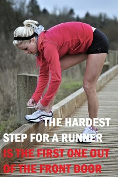 Get out the door. #run #exercise Seriously, that is all it takes - then you will be flying!