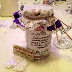 Winter wedding 'wedding favour' idea