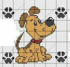 Resultado de imagen de patrones de perros a punto de cruz