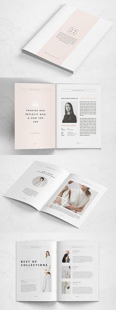 Ideas Fashion Portfolio Layout Indesign For 2019 Page Layout Design, Magazine Layout Design, Magazine Cover Design, Graphic Design Layouts, Web Design, Magazine Layouts, Book Layout, Brochure Indesign, Template Brochure