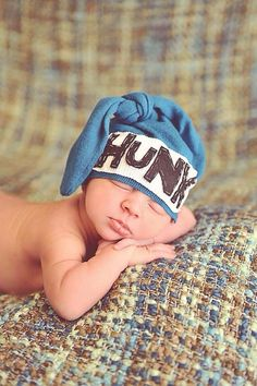 Hunk Hat upcycle beanie knot beanie newborn hat first by KNOTSLLC Handmade  Baby Items b979758b6a54
