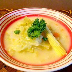 お野菜たっぷり、いつものチャウダーを和出汁で作ってみました - 56件のもぐもぐ - Corn chowderコーンチャウダー by Ami