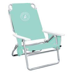 Outdoor Caribbean Joe Solid 5 Position Folding Low Beach Chair Mint Cj 7750mn