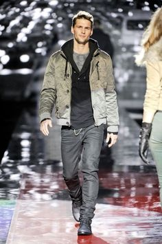 Guess F/W 2011  I like the entire outfit except the jacket; I'm not a fan of metallic