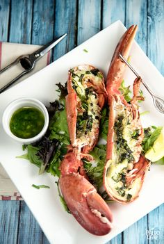 Grilled Lobster With Fresh Herbs #Paleo