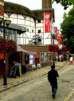 "The Globe  London - I think they'll be playing ""Midsummer Night's Dream"" when we go. Might have to check it out! #Shakespeare"