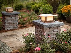 Faux Stone Column Wraps With Easy Install Kit - Pole Wrap, Post Covers - - Amazon.com