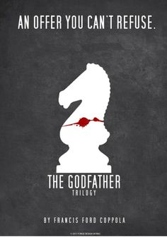 The Godfather ~ Minimal Movie Poster by Forge Design Works Minimal Movie Posters, Minimal Poster, Film Posters, The Godfather, Love Movie, I Movie, Shire, Don Corleone, Andy Garcia