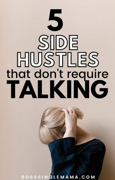 5 Profitable Online Side Hustles for Introverted and Shy Moms - Need some side hustle ideas that don't require you to talk? Learn five ways to make money online - Ways To Earn Money, Earn Money From Home, Earn Money Online, Online Jobs, Way To Make Money, Money Tips, Earn Extra Cash, Extra Money, Shy People