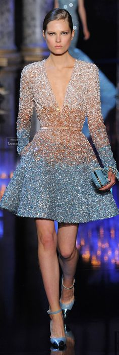 Elie Saab Fall-winter 2014-2015. Dress - Haute Couture - Vestido- Alta Costura