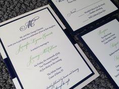 Classic Wedding Invitation with Satin Ribbon by decadentdesigns, $4.75
