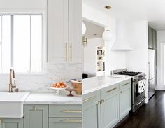 23 Perfect Color Ideas for Painting Kitchen Cabinets that will Add Personality to Your Home - The Trending House Kitchen Ikea, Best Kitchen Cabinets, Painting Kitchen Cabinets, Kitchen Furniture, Kitchen Colour Schemes, Kitchen Colors, Home Staging, Design Trends, Design Concepts