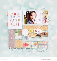 You Are My Favourite by Lilinfang at @studio_calico 12x12 layout