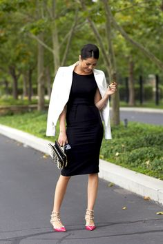 What Is Luxury…Jacket: BCBG    Heels: Valentino   Clutch: French Connection   Glasses: Celine    Earrings: Nadri   Lips: Stila c/o