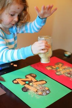 Christmas Craft for Kids: Scented Gingerbread Man Art from Fun at Home with Kids
